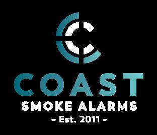 Coast Smoke Alarms Logo Stacked